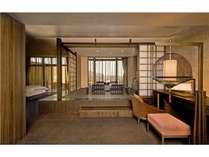 ★露天風呂付き和洋室くつろぎスペース。2010年に一新しました