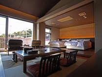 2012年オープン!特別和洋室にはひろびろとした空間とプライベートデッキ付き!1部屋限定!