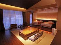 和室と洋室に区切ることができ、休日をゆっくりとお過ごしいただけます