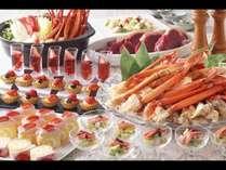 3月 蟹といちごスイーツの贅沢ビュッフェ