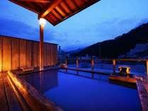 屋上露天風呂/ぽかぽか露天風呂に入りながら、信州の夜空を眺めることができます♪