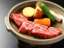 国産和牛の陶板焼き