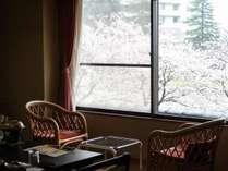 小矢部川のせせらぎをお楽しみください。春には川沿いの桜を満喫できます。