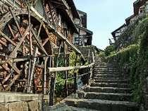 中山道の宿場町「馬籠宿」当館からお車で5分!ご観光の際は是非当館にご宿泊くださいませ。