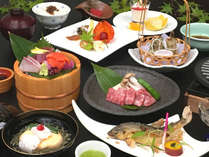 鮎の塩焼き付き会席料理(イメージ)