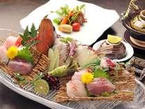 【ご夕食】伊豆の豊かな魚介類など旬の食材