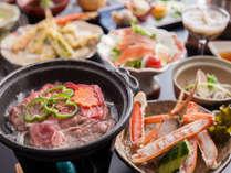 ボリューム満点で、海鮮はもちろんお肉も味わえる夏会席一人前例