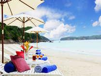 【ラグジュアリービーチ】夏季限定白い砂浜と海、大人のためのビーチ