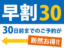 ★☆早期割30日前★☆オトクな!10%OFF◆早く予約するほどお得です♪オンライン決算♪