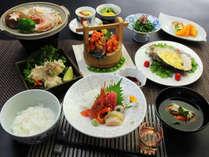 ◆【ご夕食一例】気仙沼に水揚げされる新鮮な魚介類を使用した創作和食