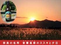 【奈良の名所 曽爾高原に乾杯】 曽爾高原ビール1本付大和遊膳プラン~【特典付】