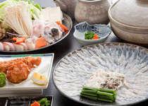 てっちり・てっさ・てっぴ・から揚げ・魚醤焼きなど多様なお料理で