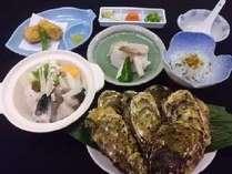 ふぐ&かき料理の一例