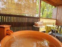 客室の露天風呂、お好きなときに、お好きなだけ、露天風呂を満喫してください
