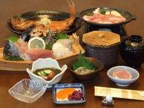 金目鯛の姿煮、船盛、富士ノ国豚の陶板焼きプランのご夕食、伊豆の特産、おいしそう!