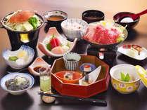 ☆湯畑会席【花】絶品上州和牛すき焼き☆旬の素材を活かした本格会席をご堪能ください♪※料理一例