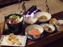 *【お食事】山菜や川魚等山川の恵みを使った、素朴なお食事をぜひご賞味下さい。