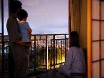 和室(12畳)からの眺望例(帯広市内の夜景が一望)タウンビュープラン