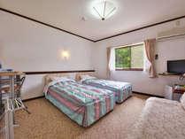 デラックスツインのお部屋。ソファをベットにできます!