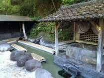 宝泉寺温泉【石櫃の湯】今は無料の足湯となっております。当館よりお車で5分。