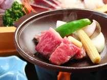 <特選牛 陶板焼き>氷見の特産物をふんだんに使用した料理は板長こだわり♪