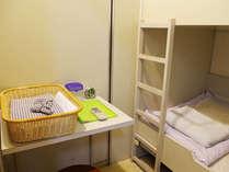 【2段ベッド】シーツ・枕カバー・浴衣はお部屋にご用意しております♪