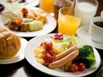 朝食バイキング:洋盛り付け例