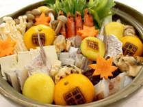 ■みかん鍋(一例)■周防大島の新しい名物!!爽やかな柑橘の香りと美味しさにびっくりされますよ♪