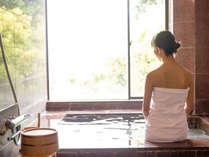 【大浴場】源泉100%のお湯がおもてなしいたします