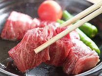葡萄で育った甲州きってのブランド牛、甲州ワイン牛のステーキ(富士御膳プラン)