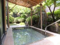 【自慢の露天風呂】自家源泉のラジウム温泉は、発汗作用を促し、新陳代謝を高める効果がございます。