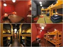 【多彩な客室構成】ご宿泊のニーズに合わせたお部屋(1-6名様向け個室、ドミトリー)を多数ご用意。