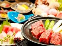 別注料理『和牛陶板焼き』&【お食事処 花鳥】和食会席と四季彩鍋のイメージ