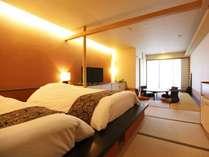 【客室】和のおもてなしの広々快適な寛ぎの客室(和洋室45㎡)