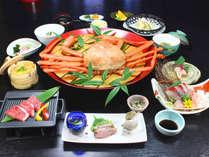 蟹コース一例。冬の王様カニ!!存分にお楽しみ下さい。