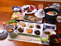 *ご朝食一例/山陰の海の幸、山の幸をふんだんに活かした朝ごはん。お腹いっぱいお召し上がり下さい。