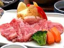 *【夕食一例】やわらかい山形牛ステーキに舌鼓☆