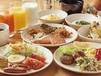 和洋バイキング朝食盛り付け例