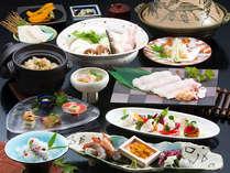 夏の淡路島を代表する味覚・鱧の魅力を堪能し尽くして頂きます。(料理イメージ)
