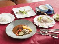 *夕食(一例)/信州和牛☆赤ワイン煮洋食コース!南信州の自然の味をお楽しみください。