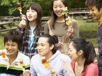 ★バンガロー限定★≪食材持込×BBQ機材貸出付≫好きな食材で楽しむキャンプ♪