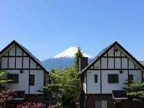 4名棟の浴室から見える富士山の眺め!