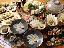 *【クエフルコース】幻の高級魚クエを贅沢にフルコースでご堪能下さい,和歌山県,豪快!活魚料理 高よしパークホテル