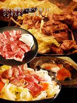 雨宮館向かい『テムジン』生のラム肉は臭みが無く食べやすくて評判!
