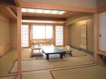 本館和室10畳+6畳。ゆったりとした二間続きのお部屋で、リラックスしてお過ごし下さい。(客室一例)