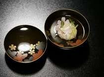 天童荘懐石~煮物椀~(一例)