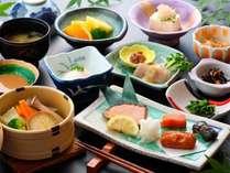 朝食一例。温野菜が好評です^^