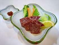 【グレードアッププラン】◆ご夕食はお部屋食◆『エゴマ豚』しゃぶ和会席に馬刺しをプラス◆1泊2食プラン