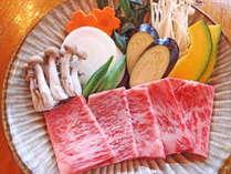 【夕食】じゅわ~っと旨味あふれる豊後牛陶板焼きメインの会席料理