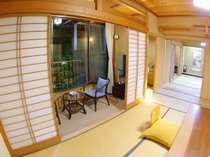 和室11+9畳 広々桧の露天付き(選択を希望の場合は予約時にコメントを入れてください)